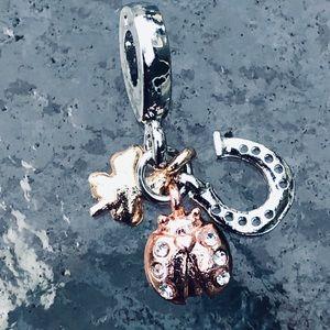 Jewelry - Charms horseshoe ladybug 3 leaf clover tricolor